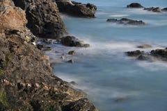 Прогулка Ньюпорт скалы, Род-Айленд Стоковая Фотография