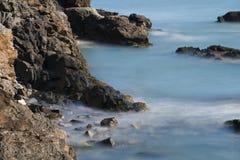 Прогулка Ньюпорт скалы, Род-Айленд Стоковые Изображения