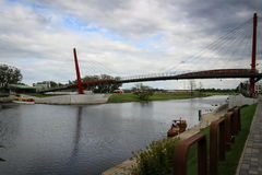 Прогулка острова макаронных изделий в городе Jelgava, Латвии Стоковое фото RF