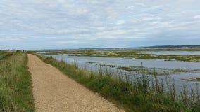 Прогулка от Keyhaven к Milford стоковое изображение rf