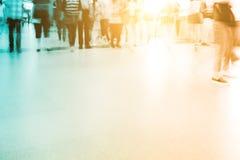 Прогулка пассажира нерезкости на метро Стоковая Фотография RF