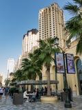 Прогулка прогулки в Марине Дубай Стоковое Фото