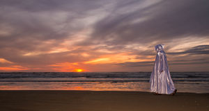 Прогулка пляжа Иисуса Стоковая Фотография