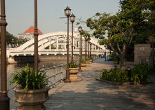 Прогулка реки в Сингапуре Стоковое Фото