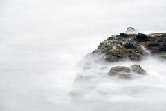 Прогулка скалы в Род-Айленде Стоковая Фотография