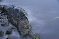 Прогулка скалы в Род-Айленде Стоковые Фотографии RF