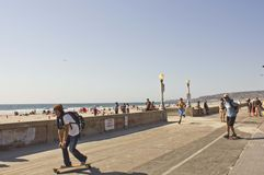 Прогулка фронта пляжа Сан-Диего Стоковое фото RF