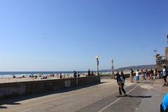 Прогулка фронта пляжа Сан-Диего Стоковые Фото