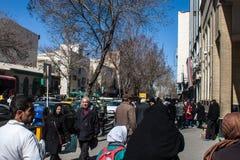 Прогулка людей на улице Стоковое фото RF