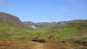 Прогулка reykjedalur Hveragerdi Стоковое Фото