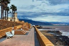 Прогулка Roquetas de mar стоковые фотографии rf