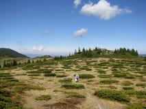 Прогулка ` s горы около пика Perelik Стоковое Фото