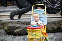 прогулочная коляска младенца счастливая Стоковое Изображение