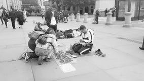 продавать кольца на квадрате Trafalgar Стоковое Фото