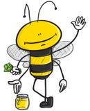 продавать меда пчелы иллюстрация штока