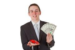 продавец автомобиля Стоковое Фото