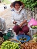продавец Вьетнам плодоовощ Стоковые Изображения RF