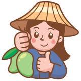 Продавец манго стоковое изображение