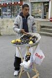 продавец мидий лимона стоковая фотография rf