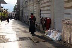 Продавец стороны улицы в Белграде стоковое фото rf