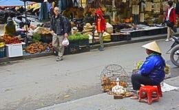 Продавец цыпленка стоковое фото