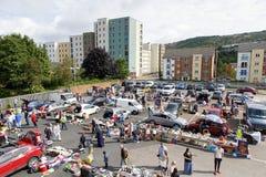 Продажа ботинка автомобиля в автостоянке Стоковая Фотография