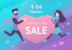 Продажа дня ` s валентинки иллюстрация штока