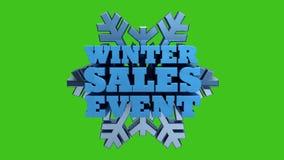 Продажа инвентаря зимы - маркетинг и реклама на зеленом экране