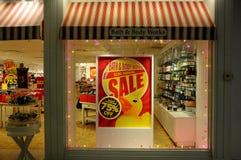 продажа 75% на работах ванны и тела Стоковые Изображения RF