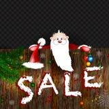 Продажа рождества! Счастливый усмехаясь Санта Клаус 10 eps иллюстрация штока