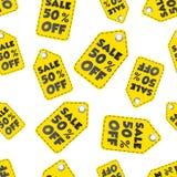 Продажа 50% с предпосылки картины бирки вида безшовной Дело плоское Стоковое фото RF