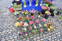 Продажа улицы цветка Стоковая Фотография