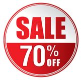 Продажа 70%  Стоковое Изображение RF