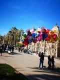 Продажа baloons в парке стоковая фотография