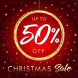 Продажа hristmas ¡ Ð до 50% с знамени звезды иллюстрация штока