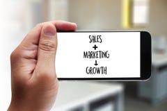 ПРОДАЖИ ВЫХОДЯ CONCECT вышед на рынок на рынок, приборную панель Gra продаж маркетинга клиента Стоковое Фото
