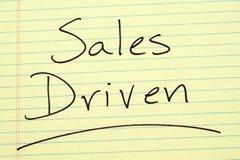 Продажи управляемые на желтой законной пусковой площадке Стоковые Изображения RF