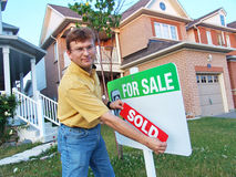 проданное предприниматель дома Стоковые Изображения
