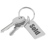 проданные ключи Стоковое фото RF