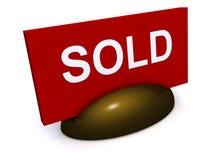 проданный знак Стоковые Изображения RF