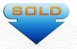 проданный знак Стоковая Фотография RF