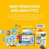 Продвижение сети и аналитик информации Коммерция интернета, социальные сети, взаимодействие с потребителями Статистик, проверка и Стоковое фото RF