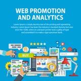 Продвижение сети и аналитик информации Сообщение и обслуживания, маркетинг и исследование, информация, статистик и analys Стоковое Фото