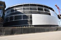 Продолжая стадион ратников золотого штата новый под конструкцией, 8 стоковые изображения