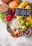 Продукты богатые в волокне еда диетпитания здоровая стоковое фото rf