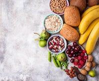Продукты богатые в волокне еда диетпитания здоровая стоковое изображение