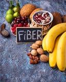 Продукты богатые в волокне еда диетпитания здоровая стоковые изображения rf