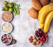 Продукты богатые в волокне еда диетпитания здоровая стоковая фотография rf