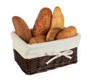 продукты группы хлеба корзины различные Стоковая Фотография RF