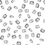 Продукты для вектора картины сэндвича безшовного иллюстрация вектора